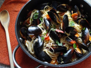 Angel Hair Pasta with Mussels
